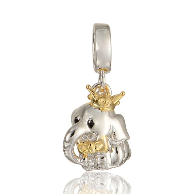 925 - серебристо-ювелирные слон бусины Fit пандора Chamilia оригинальный очаровывает браслеты украшения DIY поиск 2015 новый S283