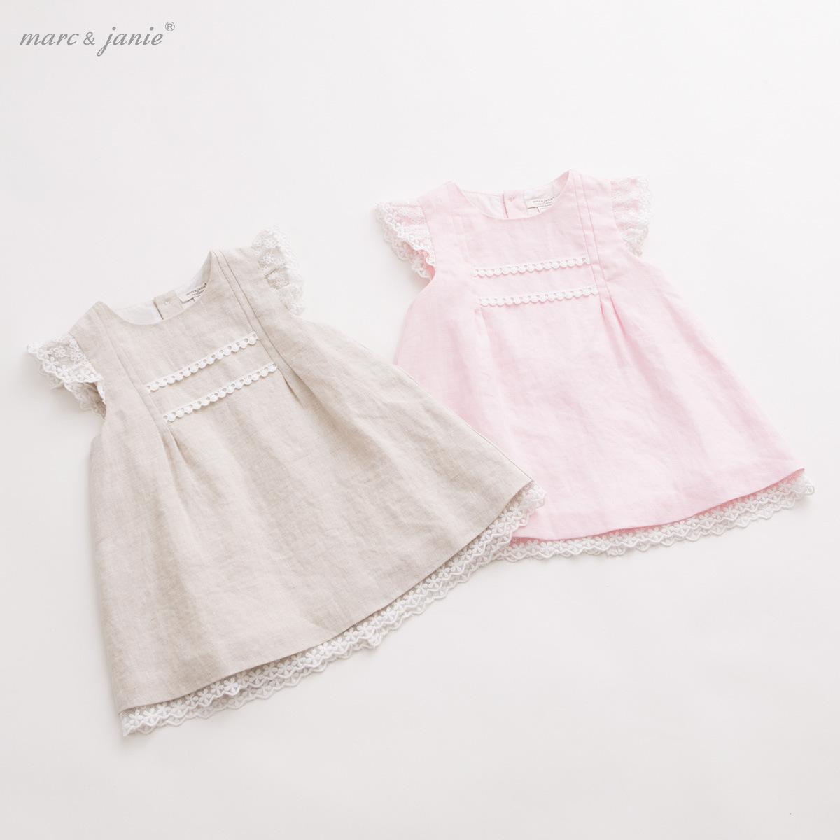 Summer of 2015 Linen Dress Baby Girls Flax Princess Dress(China (Mainland))