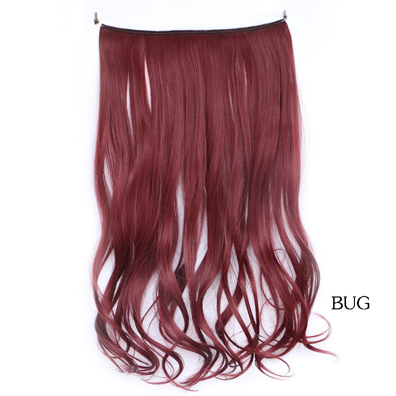 "18"" Bug Wavy Flip In Hair Extensions Synthetic 613 Highlight Micro Loop Long Body Wavy Flip In Hair Extensions Hairpiece Hair"
