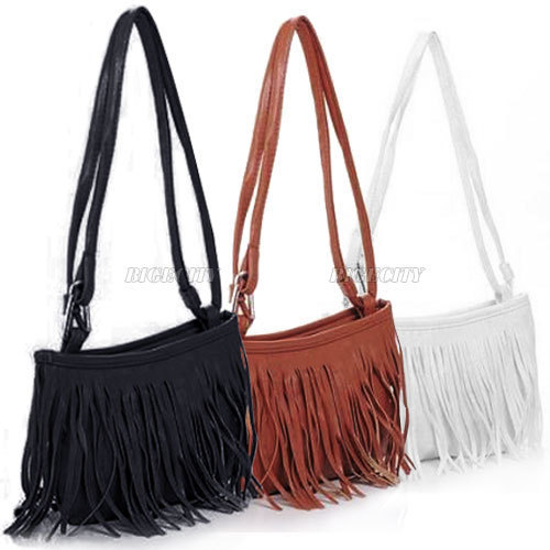 Black Fringe Shoulder Bag 49