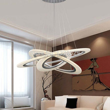 Free Shipping Modern LED Chandelier Ring Light LED Acylic Ring Circle Suspension Drop Hanging Light(China (Mainland))