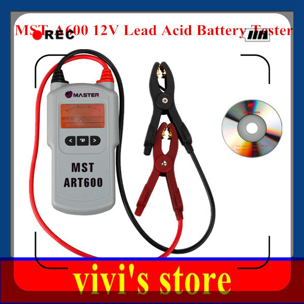 Best quality MST-A600 12V Lead Acid Battery Tester Battery Analyzer MST A600 MSTA600 Automotive Electrical Testers & Test Leads(China (Mainland))