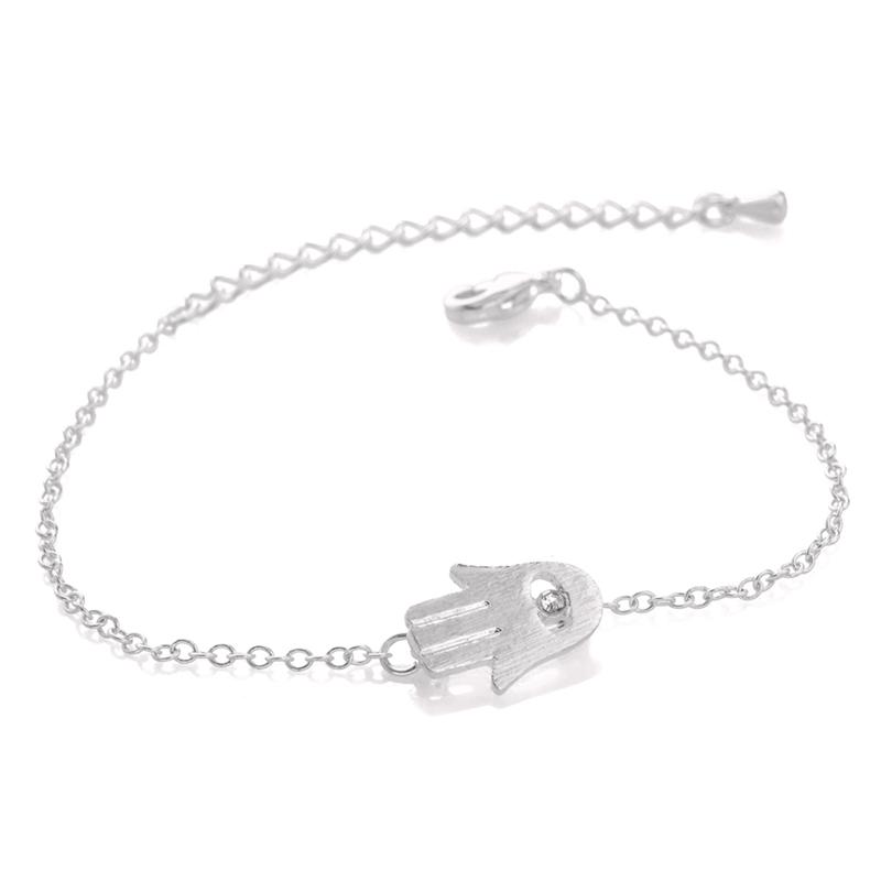 Free shipping 30pcs/lot Gold and Silver Hamsa Bracelet,hand shape bracelet SL008<br><br>Aliexpress