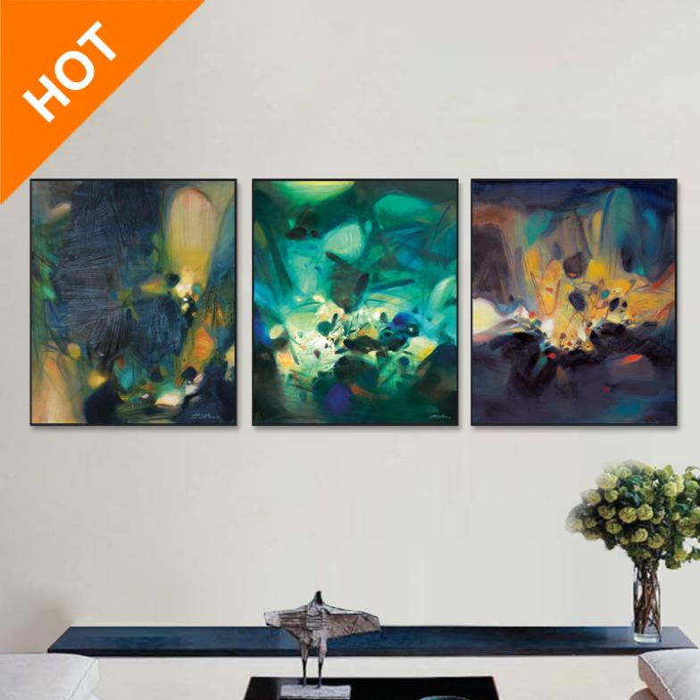 3 pcs set modern abstract oil painting artist canvas for Buy cheap canvas art
