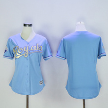 Women Mens 16 Bo Jackson blank Woman blue Stitched Throwback Jersey(China (Mainland))