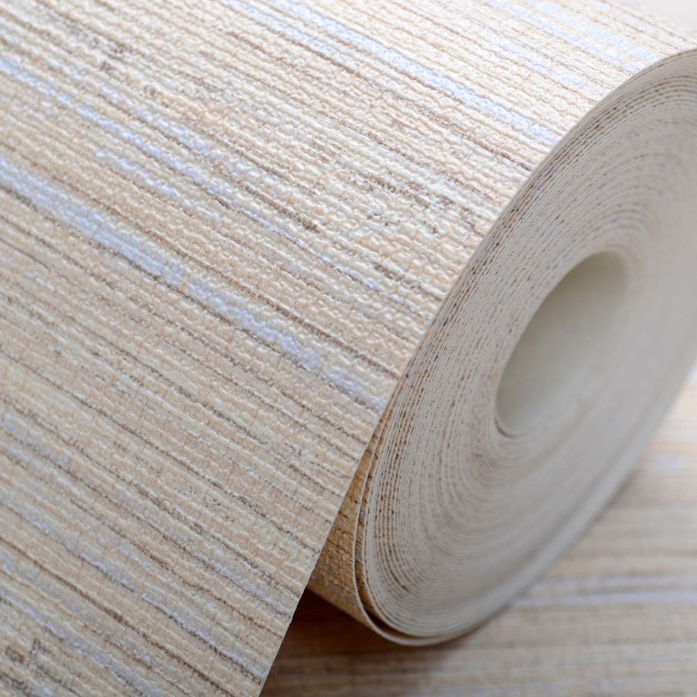 Plain Modern Brown/Beige Grasscloth Wallpaper Wrinkled Vinyl Textured Straw Wall Paper Roll For Hotel&Bedroom(China (Mainland))