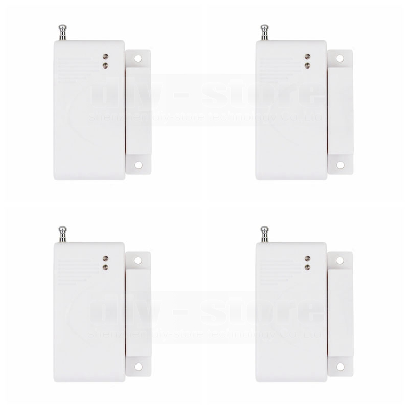 4pcs Wireless 433Mhz Door Magnetic Sensor for Our Related Home Alarm Home Security System Gap sensor(China (Mainland))