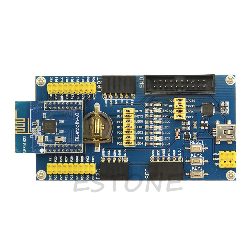 J34 Free Shipping NRF51822 BLE4.0 Bluetooth Evaluation Board 2.4G Wireless Communication Module(China (Mainland))