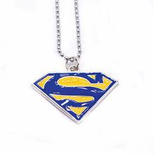 Superman Logo Necklace Dainty Superman Long Chain Simple Pendant Tiny Women men Jewelry Necklace