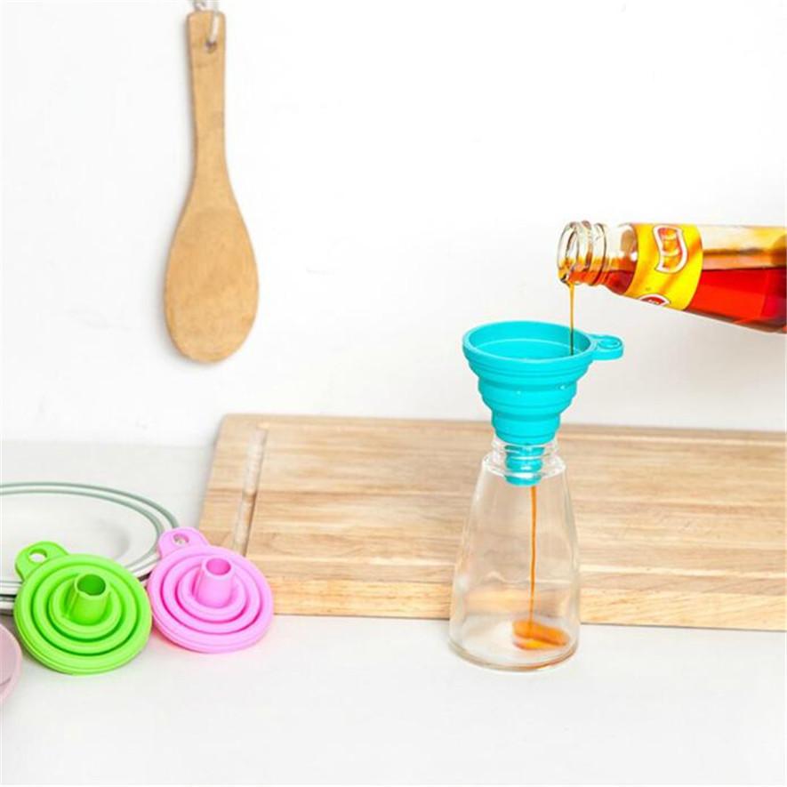 saingace silicone gel pratico pieghevole imbuto pieghevole tramoggia attrezzo della cucina gadget 30 2017 nuovi annunci