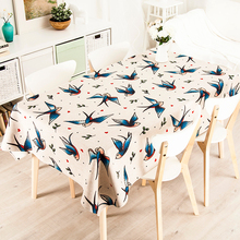 Buy Simple Cartoon Cute Swallow Cloth Rectangle Tea Table Round Table Cloth Tablecloth Cotton Green Pastoral Tea Table Cloth Cover for $22.99 in AliExpress store