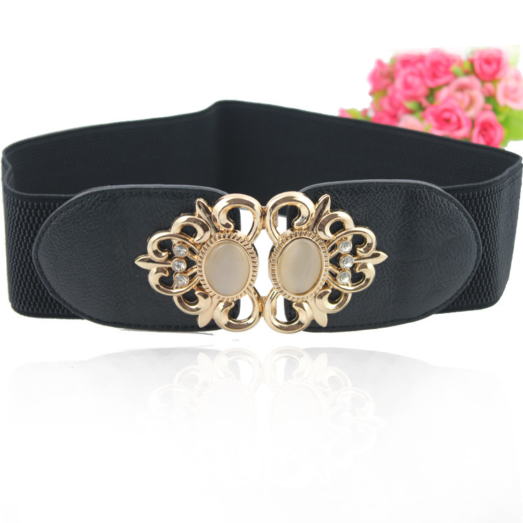 luxury brand designer gemstone diamonds wide belt