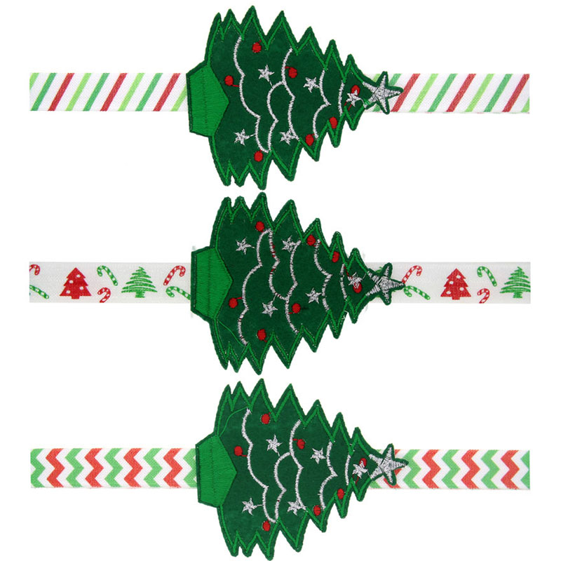 Retail Christmas Trees Headbands Baby infant New Year headwear with lovely trees 3 colors Girls Gifts Hair Accessories HB467(China (Mainland))