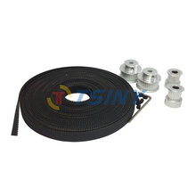 Buy HTD GT2 Alloy Pulley 2pcs 16 Teeth Bore 5mm+2pcs 32 Teeth Pulley Bore 5/6.35/8/10mm 2GT Timing Belt 5 Meters Belt Width 9mm for $27.99 in AliExpress store