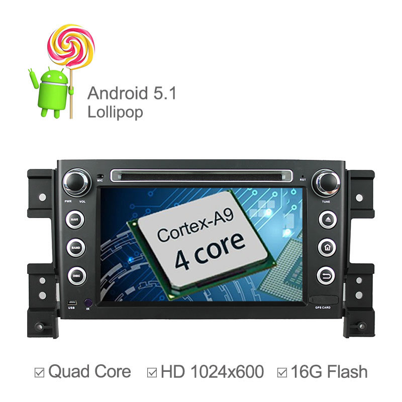 7 inch 1024*600 Android 4.4.4 Car DVD Player For Suzuki Grand Vitara 2005 2006-2011 with GPS Radio Capacitive Touch screen Wifi(China (Mainland))