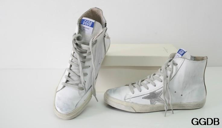 2015 New Golden Goose Superstar Italy Brand High Top Genuine Leather White Sneakers Men Women Shoes GGDB SSART Scarpe Uomo<br><br>Aliexpress