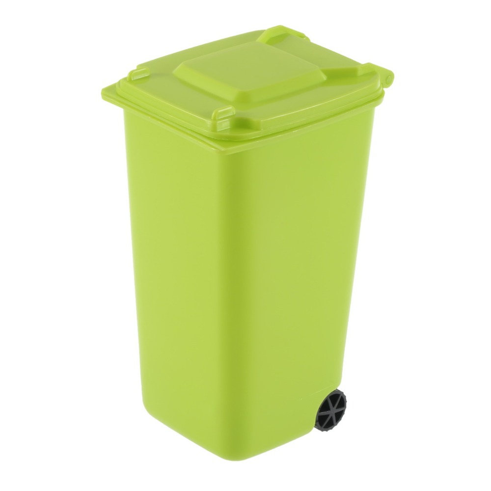 High quantity fashion  Wheelie Bin  Office  Pencil Holder-green free shipping hot sell<br><br>Aliexpress