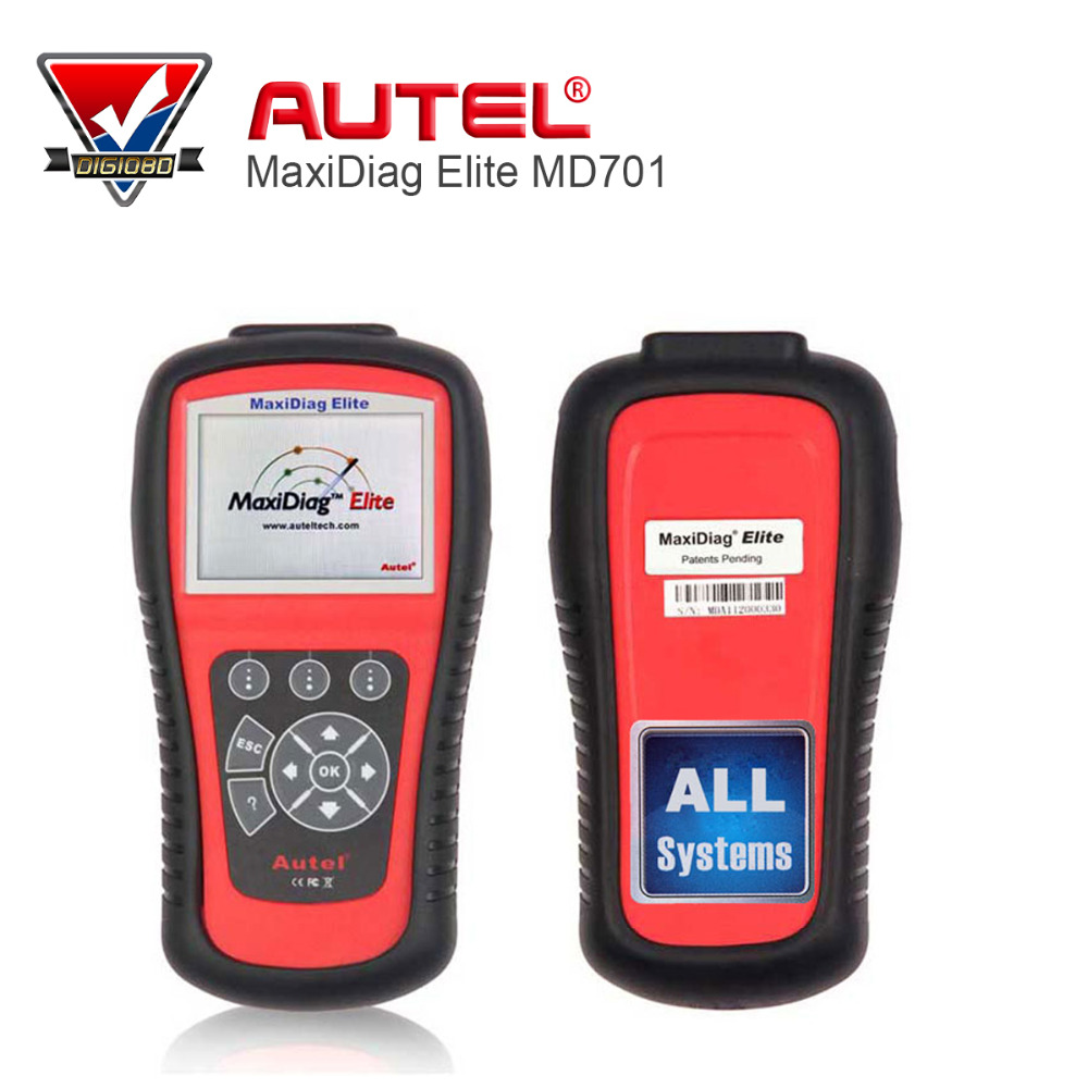 100 original autel maxidiag elite md701 all system ds model obdii auto code reader