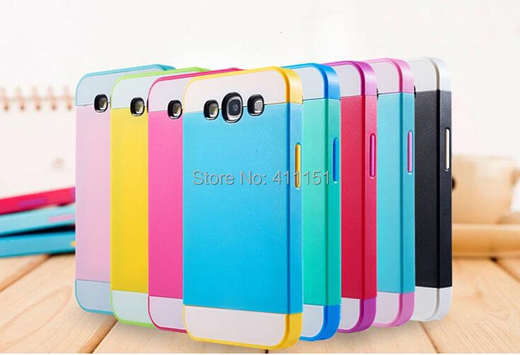 2014 TPU & Plastic Colorful Life 2 1 Slim Armor Soft Hard Case Back Cover Samsung Galaxy S3 SIII i9300 - ALEX ZHOU Store store