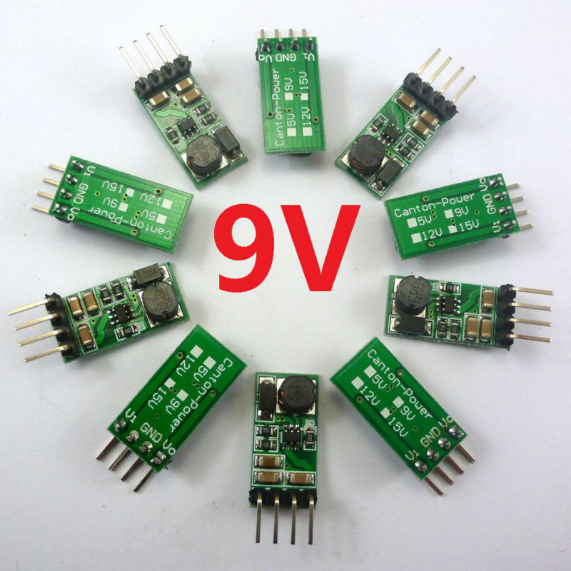 10pcs Very small Lightweight DC-DC 3-6V 5V to DC9V Step-UP Boost Voltage Converter Module(China (Mainland))