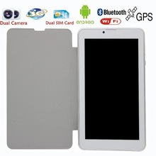 7 Inch Leather holeter 3G Phone Call Android Tablets Pc WiFi GPS Bluetooth FM Dual core Dual Camera Dual SIM Card