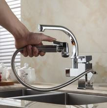 Buy Free Chrome Promotion Wholesale Kitchen Pull Swivel Faucet Mixer Tap Vanity Faucet kitchen faucet HJ-8019 for $74.10 in AliExpress store