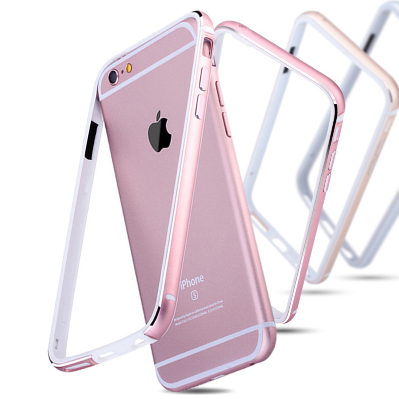 Aluminum + Silicone Bumper Case For iPhone 6 6S / 6 Plus 6S Plus Luxury Cover Metal Coque Rose Gold For iPhone6 Bag(China (Mainland))