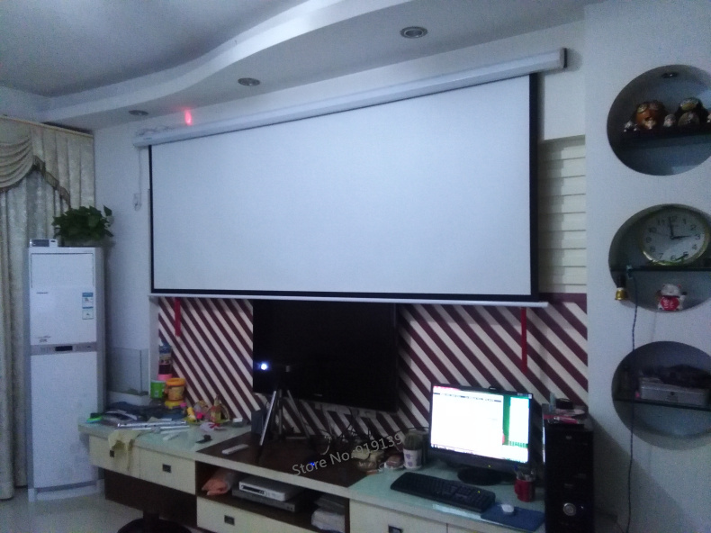 Electric projection screen pic 13
