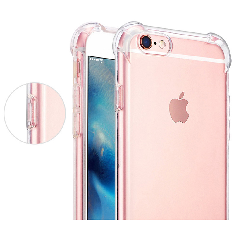 For-iPhone-7-7-Plus-Crystal-Clear-Soft-TPU-Case-Anti-Knock-Protective-Back-Cover-Silicone