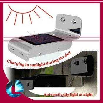 New Solar Powered 16 LED Outdoor Lighing Lamp/ Wall Light Ray/Sound Sensor Energy-saving Garden LEDs, freeshipping dropshipping