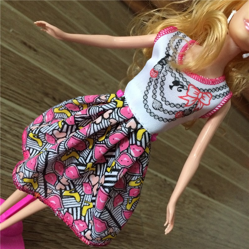 2016 new Style Doll Gown Lovely Handmade Social gathering Garments Style Gown For Barbie Doll,Finest Kids toys Women Style Doll