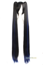 Long Straight Wigs 100cm Light Blue  Anime Cosplay Wigs Hatsune Miku (NWG0CP60746-LU2)(China (Mainland))
