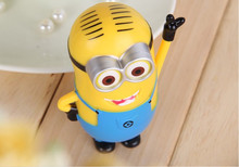 Despicable Me Cartoon Power Bank 6000mAh 5V 1A Mini USB Compatible with iPhone Sumsang LG SONY HTC Smart Mobile Phone 2000pcs(China (Mainland))