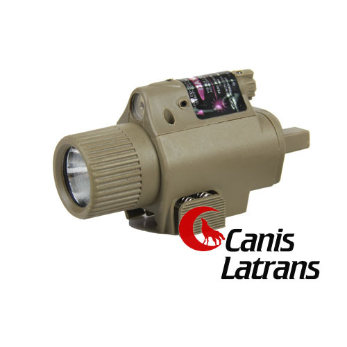 New Fashion Tactical Tan Black Color 350Lumen Aluminum Weapon Light Torch Flashlight Red Laser CL15-0003R(China (Mainland))