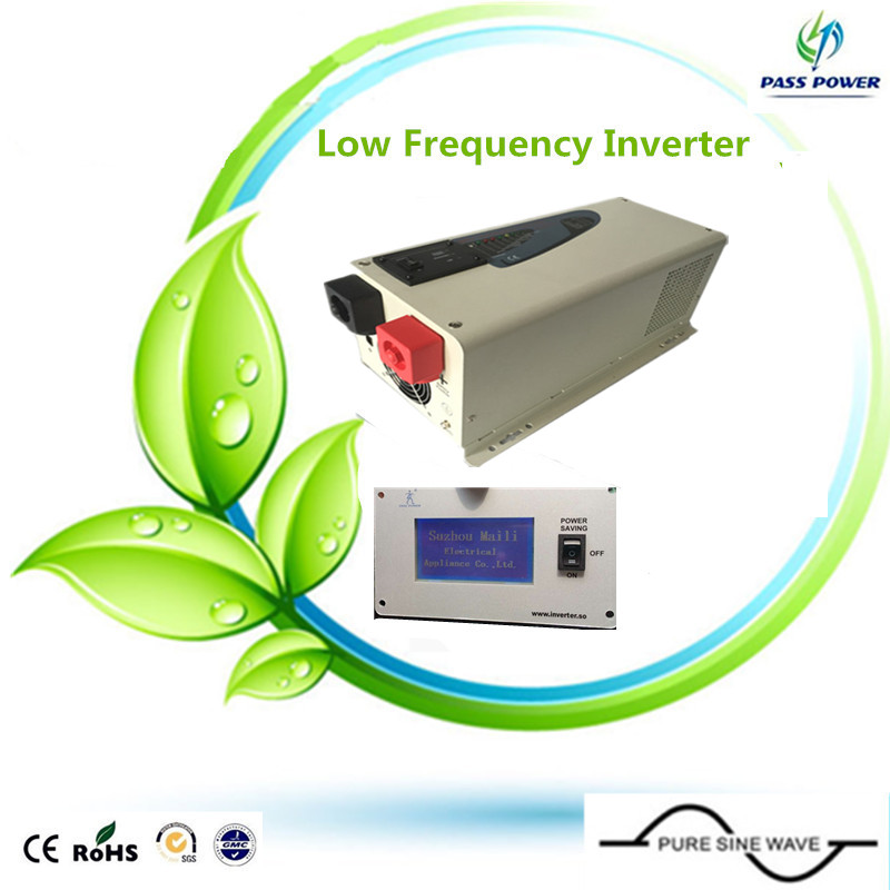 free shipping, LCD display low frequency 12v --240v solar pure sine wave inverter for ice cream machine,air conditioner(China (Mainland))