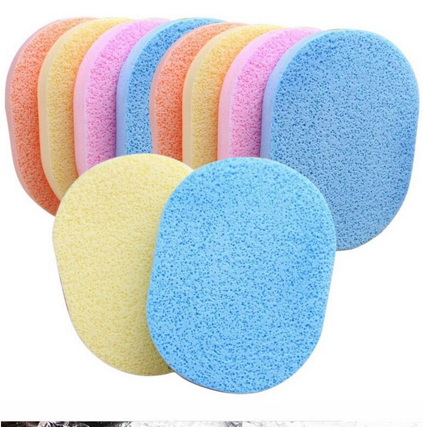 2PC Makeup Powder Puff Natural Facial Cleaning Puffs, Blender Make Up Sponge Original Cosmetic Puff Makeup Tools Beauty Sponge(China (Mainland))