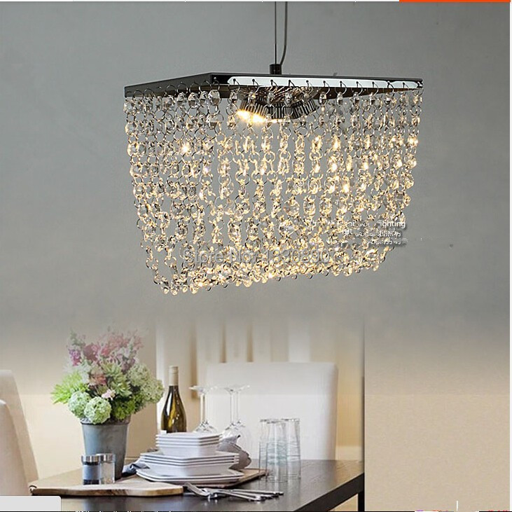 minimalist modern chandelier lighting led crystal dining room