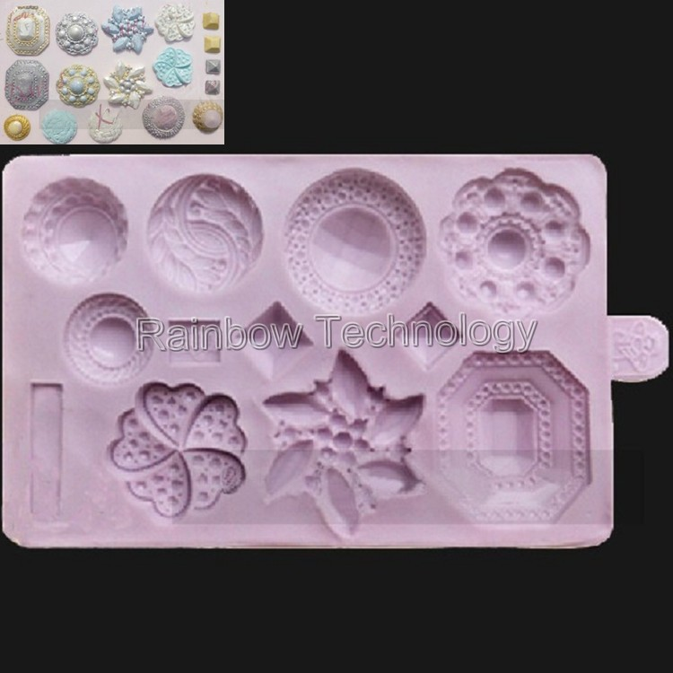 Diamond Flowers Instant Silicone Cake Mold Chocolate Cookie Soap Fondant Decorations Cakes Kitchen Accessories Tool - Rainbow Technology store