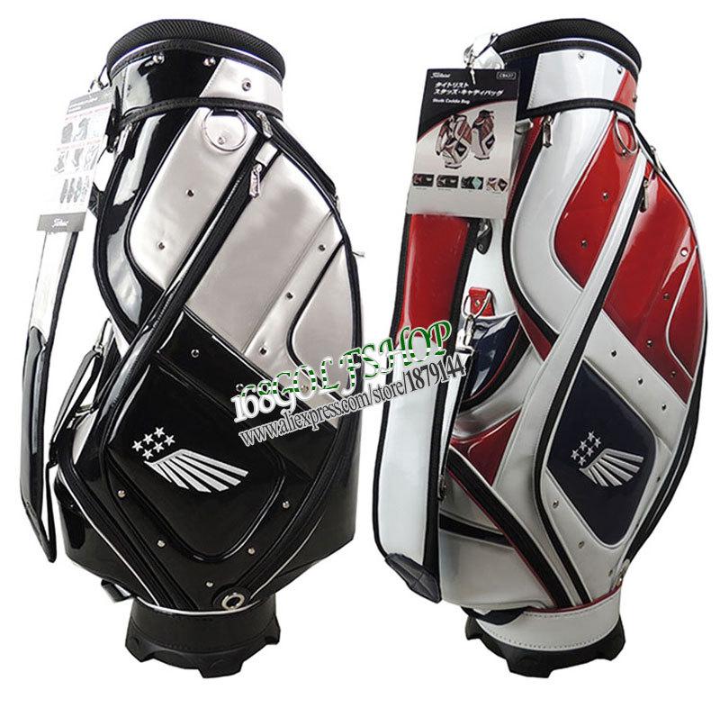 Здесь можно купить  New Golf staff bag high quality PU Golf bags 9 inches 4 colors in choice with bag cover Golf equipment  Free shipping  Спорт и развлечения