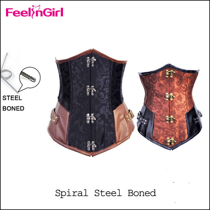 Strong Shaped Steel Boned Underbust Corset Waist Training Corsets Langerie Women Fashion Slimming Corpetes Corselet espartilho O(China (Mainland))