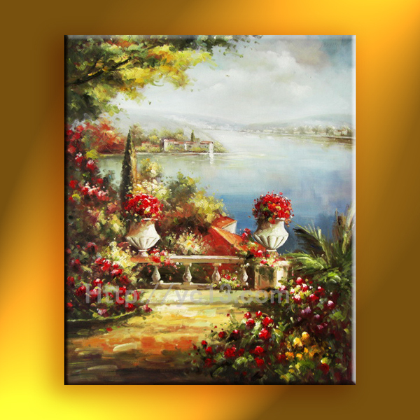 Hot sell mediterranean oil painting hand painted landscape -the newest Great artwork on canvas(China (Mainland))