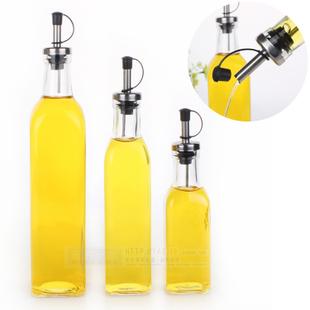 Kitchenware Glass Oil & Vinegar Bottle oiler / cruet condiment bottles olive oil bottle square oil 280ML(China (Mainland))