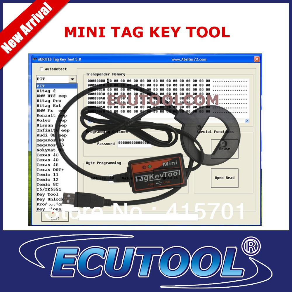 Support used Keys, MINI TAG KEY TOOL USB V5.8 Transponder Ignition Key programmer High Performance(China (Mainland))