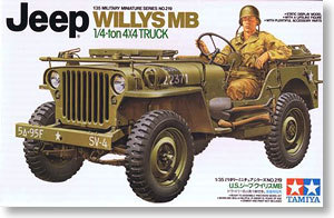 TAMIYA MODEL 1/35 SCALE military models #35219 U.S. Jeep Willys MB plastic model kit(China (Mainland))