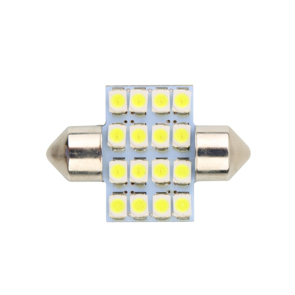 LED 31mm 16 SMD Pure White Dome Festoon LED Car Light Bulb Auto Lamp Interior Lights