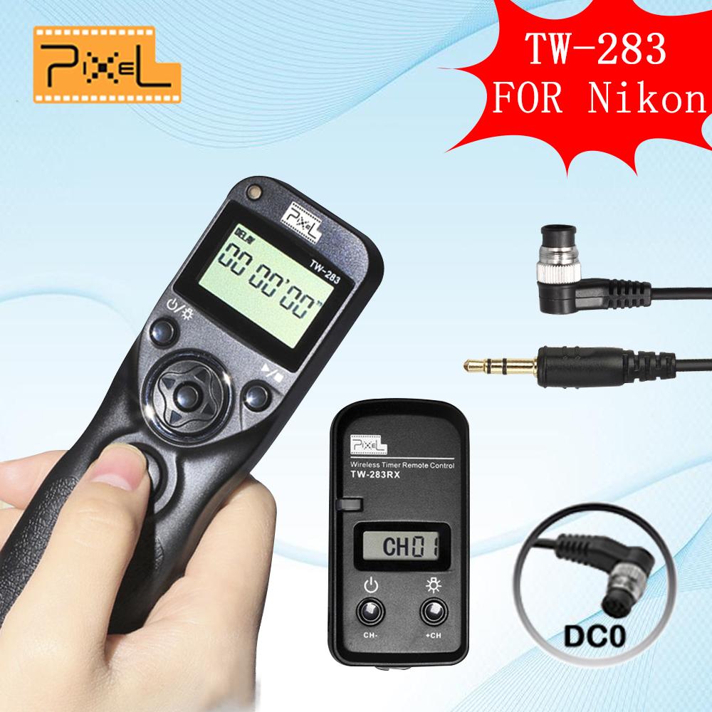 Pixel TW-283 DC0 TW283 Wireless Timer Remote Control Shutter Release For Nikon Series D800 D810 D700 D200 Fujifilm S5 Pro S3 Pro