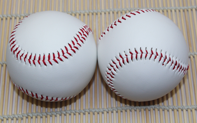 2 Piece/Lot 2.75'' PVC New White Base Ball Baseball Practice Trainning Hardball Sport Team Game(China (Mainland))