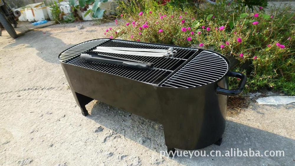New ease assembled charcoal bbq BBQ Grill barbecue grill for outdoor picnic 80*30*40cm(China (Mainland))