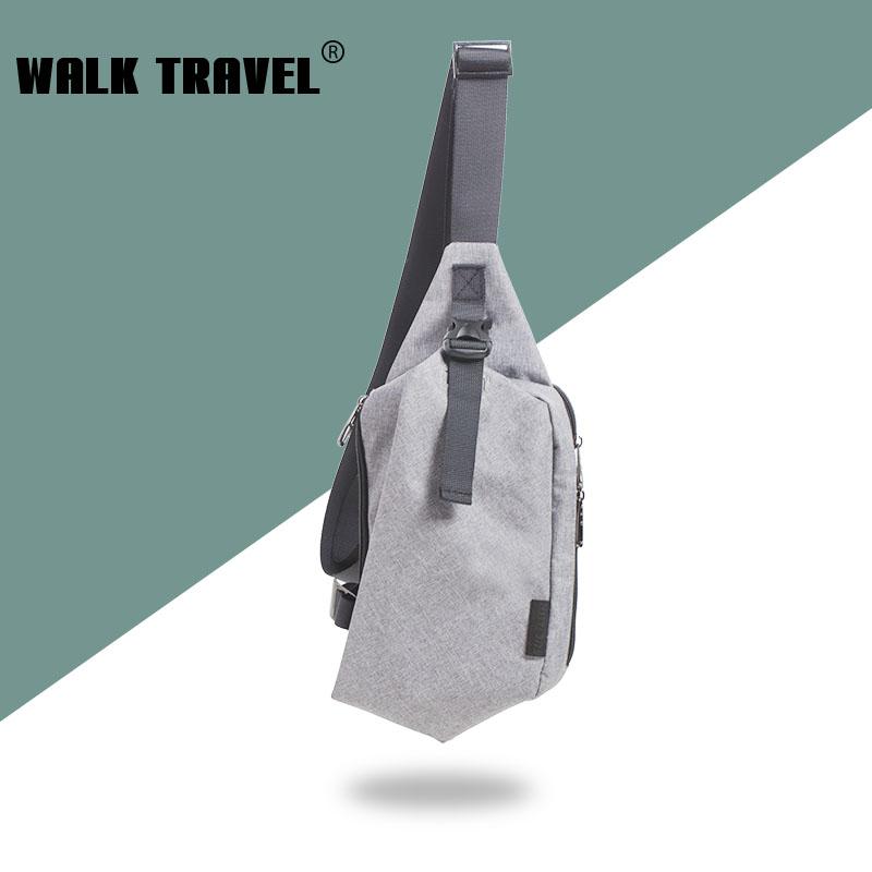 WALK TRAVEL  Chest package man women inclined bag leisure canvas bag single shoulder bag korea edition tide  sports  bag<br><br>Aliexpress