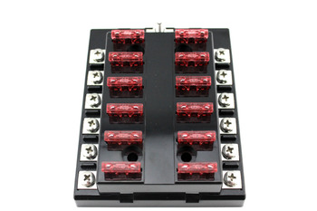Moto Home 12 Way Blade Fuse Box & Bus Bar Kit Car Boat Marine FuseBox Holder 12V 24V Volt